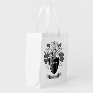 Gibbs Family Crest Coat of Arms Grocery Bags