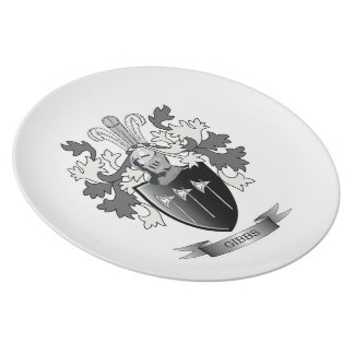 Gibbs Family Crest Coat of Arms Party Plates