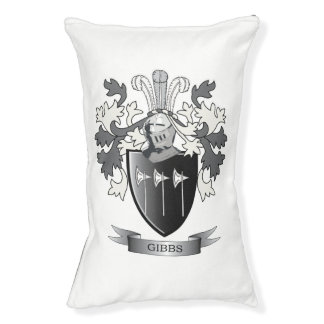 Gibbs Family Crest Coat of Arms Pet Bed