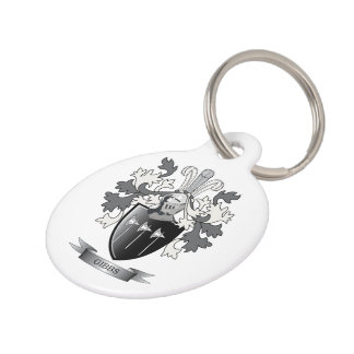 Gibbs Family Crest Coat of Arms Pet ID Tag