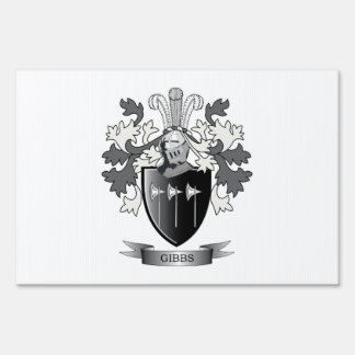 Gibbs Family Crest Coat of Arms Sign