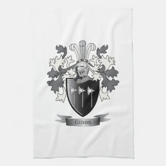 Gibbs Family Crest Coat of Arms Towels