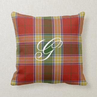 Gibbs/Gibson Tartan Monogram Pillow