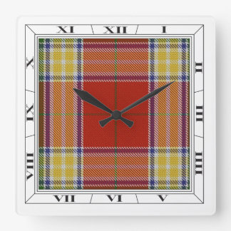 Gibbs/Gibson Tartan Wall Clock