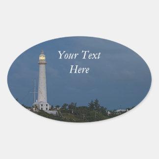 Gibbs Hill Lighthouse at Dawn Oval Sticker