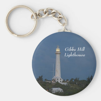 Gibbs Hill Lighthouse at Sunrise Keychain