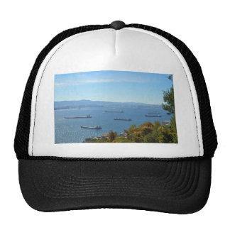 Gibraltar Anchorage From Above Trucker Hat