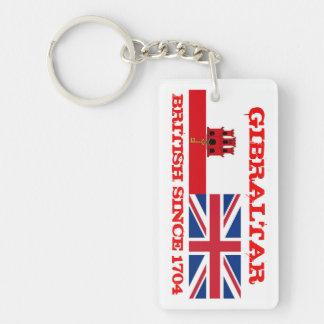 Gibraltar British Since 1704 KeyRing Double-Sided Rectangular Acrylic Keychain