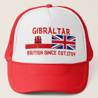 Gibraltar British Since Est.1704 Truckers Hat