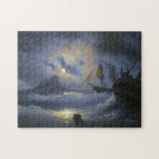 Gibraltar by Night Ivan Aivasovsky seascape waters Jigsaw Puzzle