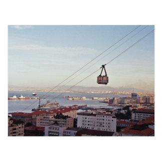 Gibraltar Cable Car Postcard