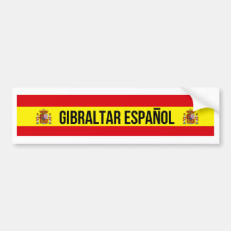 Gibraltar Español - Spanish Gibraltar Bumper Sticker