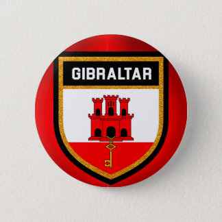 Gibraltar Flag 2 Inch Round Button