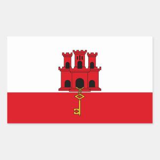 Gibraltar Flag. Britain, British Overseas Sticker
