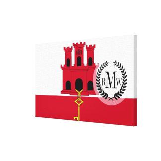 Gibraltar flag canvas print