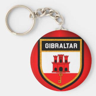 Gibraltar Flag Keychain