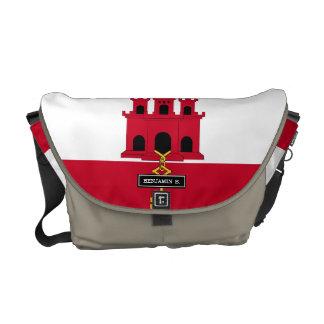 Gibraltar flag messenger bag