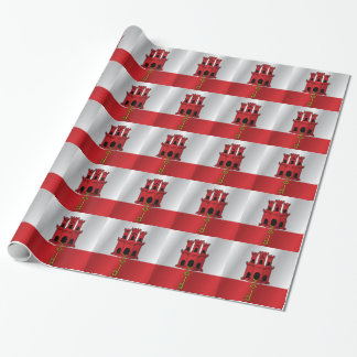 Gibraltar flag wrapping paper