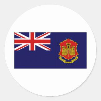 Gibraltar Government Ensign Classic Round Sticker