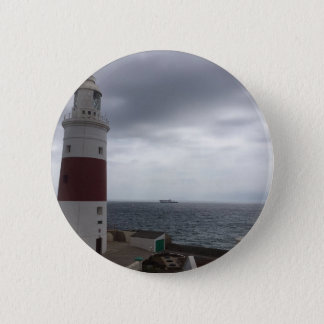 Gibraltar Lighthouse 2 Inch Round Button