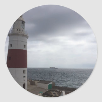 Gibraltar Lighthouse Classic Round Sticker