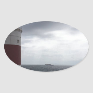 Gibraltar Lighthouse Oval Sticker