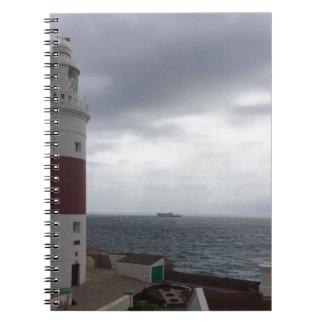 Gibraltar Lighthouse Spiral Notebook