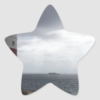 Gibraltar Lighthouse Star Sticker