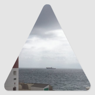 Gibraltar Lighthouse Triangle Sticker