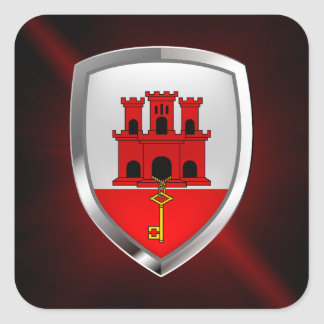 Gibraltar Metallic Emblem Square Sticker