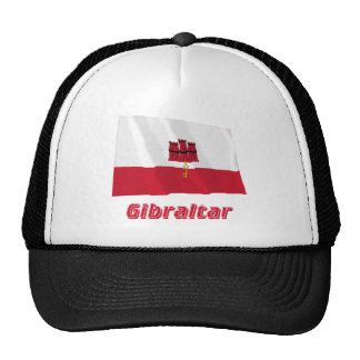 Gibraltar Waving Flag with Name Trucker Hat
