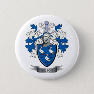 Gibson Family Crest Coat of Arms 2 Inch Round Button