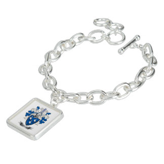 Gibson Family Crest Coat of Arms Charm Bracelets