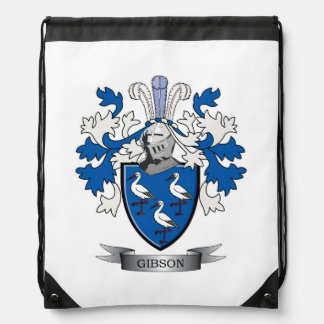Gibson Family Crest Coat of Arms Drawstring Bag
