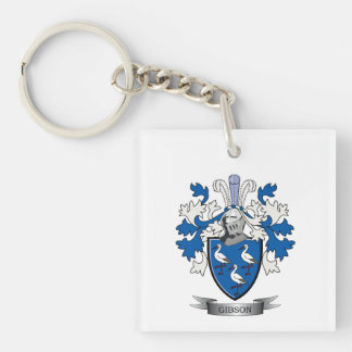 Gibson Family Crest Coat of Arms Keychain
