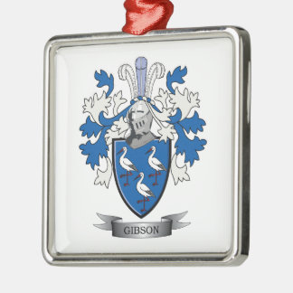 Gibson Family Crest Coat of Arms Metal Ornament