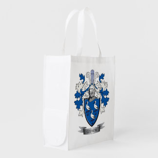 Gibson Family Crest Coat of Arms Reusable Grocery Bag