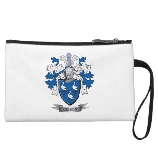 Gibson Family Crest Coat of Arms Wristlet
