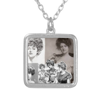 gibson girls silver plated necklace