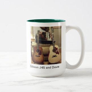 Gibson J45 and Dove mug