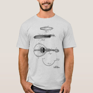 Gibson mandolin patent drawing T-shirt