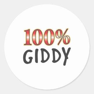 Giddy 100 Percent Round Sticker
