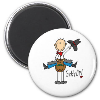 Giddy Up! Cowboy Stick Figure Magnet