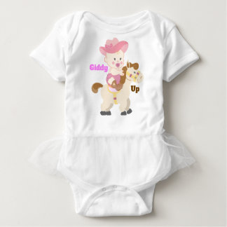 """Giddy Up Little Cowgirl"" Tutu Bodysuit"
