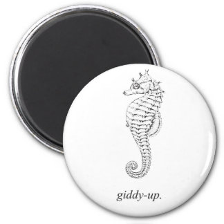 Giddy-Up Seahorse Magnet