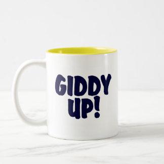 GIDDY UP !!! Two-Tone COFFEE MUG