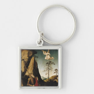Gideon and the Fleece, c.1490 Silver-Colored Square Keychain
