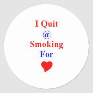 Gift Award for Stop or Quit Smoking Round Sticker