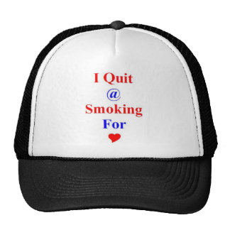 Gift Award for Stop or Quit Smoking Trucker Hat