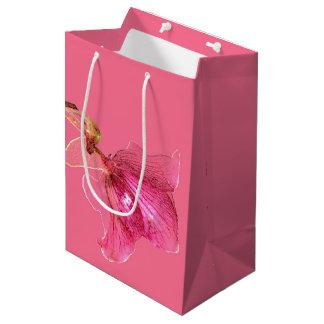 Gift Bag Flower Design Medium Matte